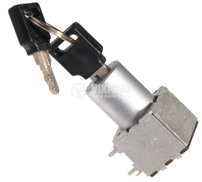 Превключвател с ключ, NO+NC, SPDT - 1