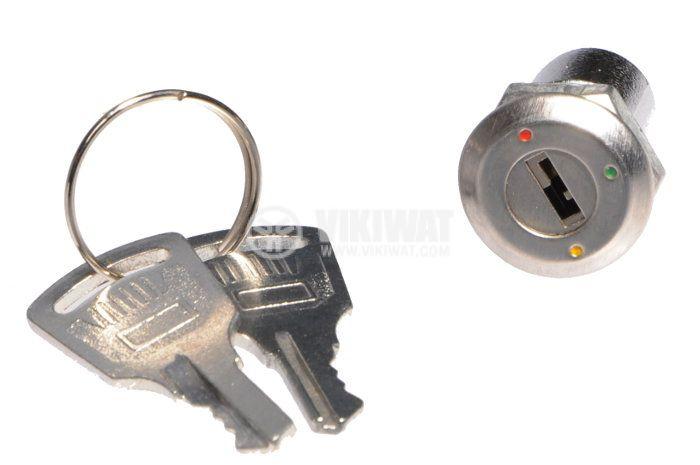 Превключвател с ключ, NO+NC, SPDT - 2