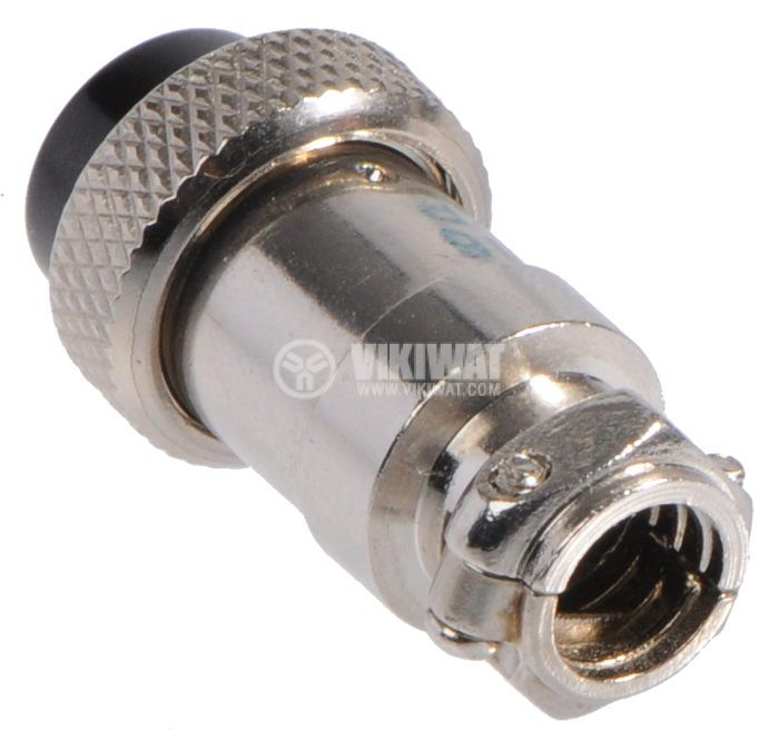 Connector, plug 5 pin, female, metal - 2