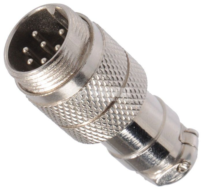 Connector, 7 pin, male, metal - 1