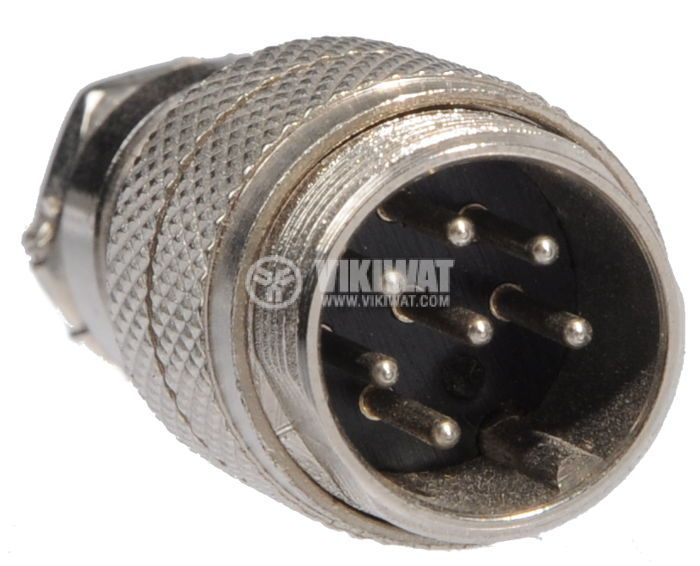 Connector, 7 pin, male, metal - 2