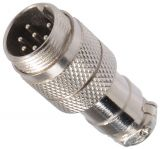 Connector, 7 pin, male, metal