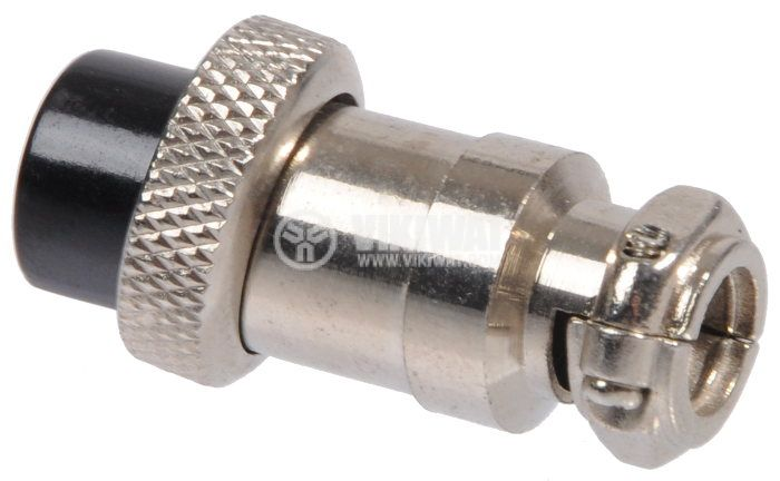 Connector, plug 7 pin, female, metal - 3