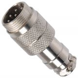 Connector, 8 pin, male, metal