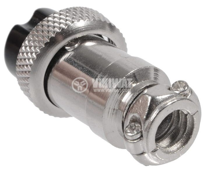 Connector, plug 8 pin, female, metal - 2