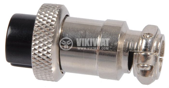 Connector, plug 8 pin, female, metal - 3
