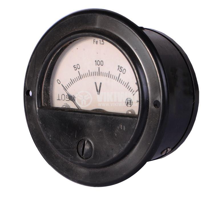 Волтметър, 200 VDC, 3M31, Ф80 mm
