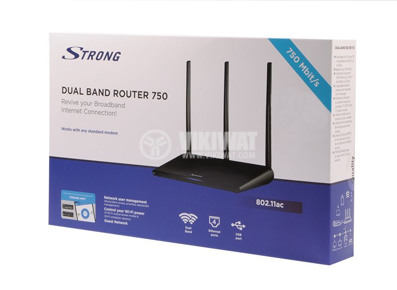 Two-band gigabit router 750 Mbit / s STRONG - 6