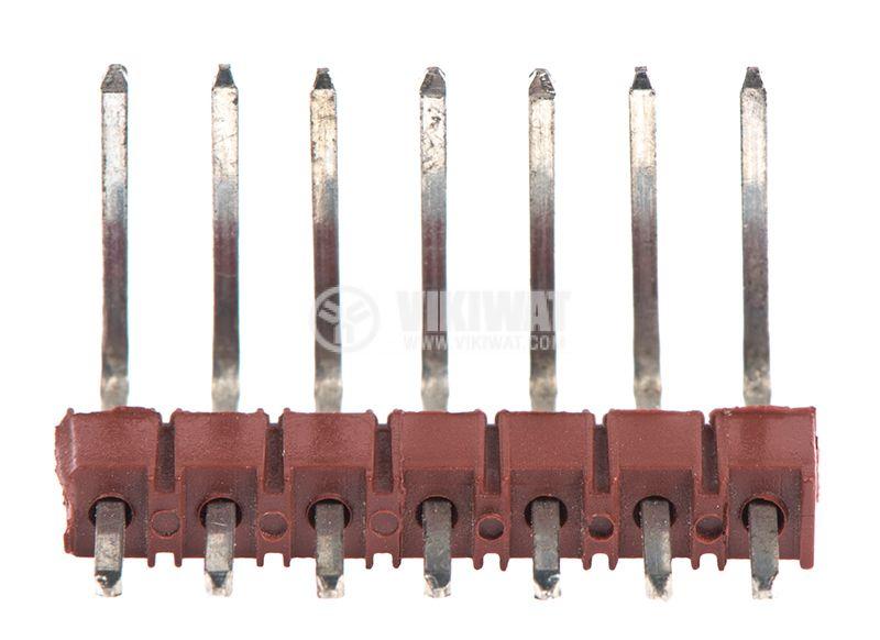 Pin header, 7 pins, 18mm, 90° - 2