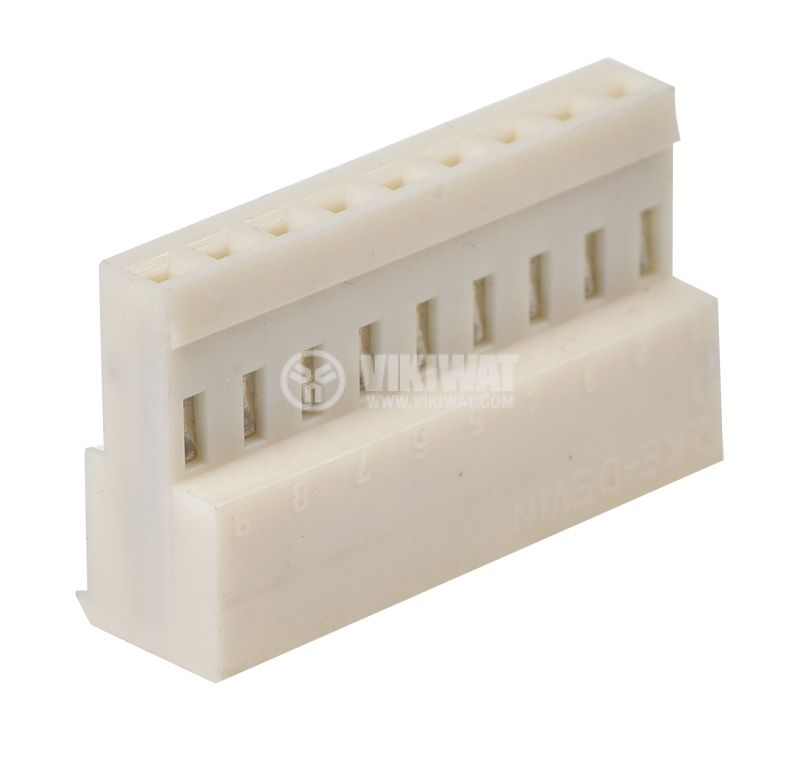 Connector female, 9 pins, 0.75mm2, model AMP - 1