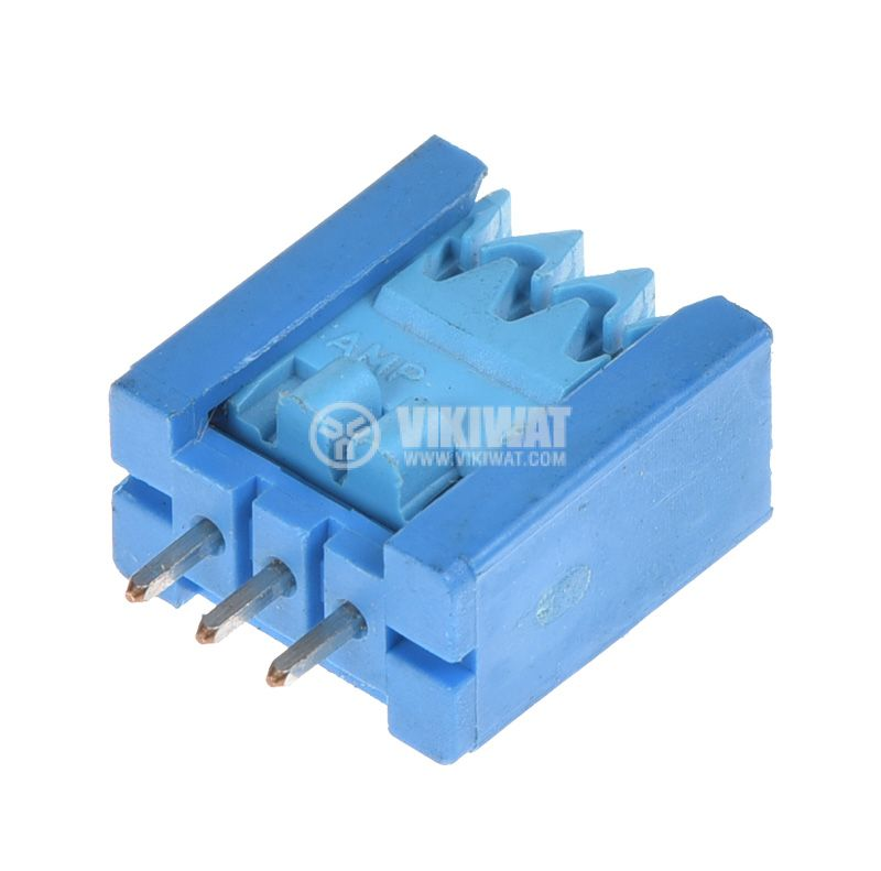 Connector, socket, set, 3pin, 2.54mm pitch, THT - 1