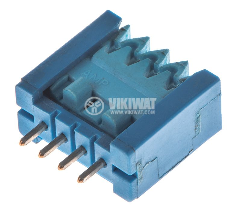 Socket connector, kit, 4pins, 2.54mm pitch, THT - 1