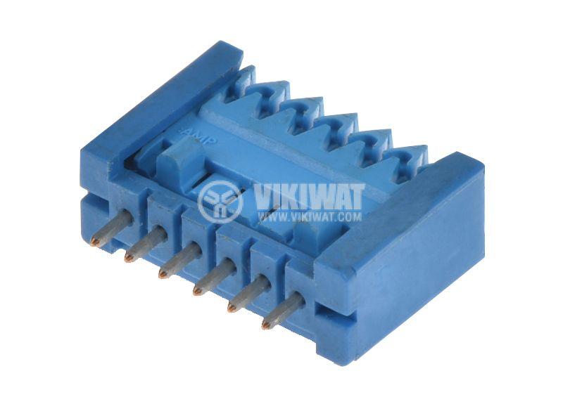 Съединител, гнездов, комплект, 6pin, растер 2.54mm, THT  - 1