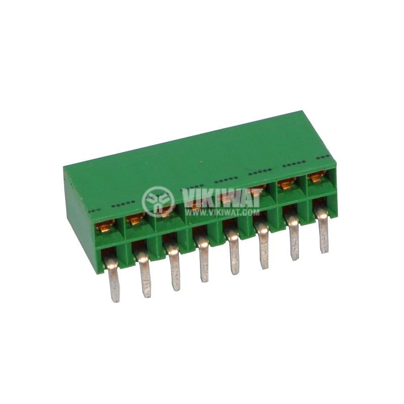 Socket connector, DIL 16pin, 2.5mm, 90°