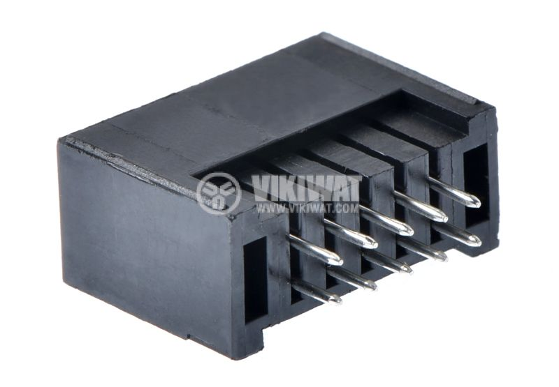 Connector, pin, male, straight, 10pin, 2.54mm raster - 2