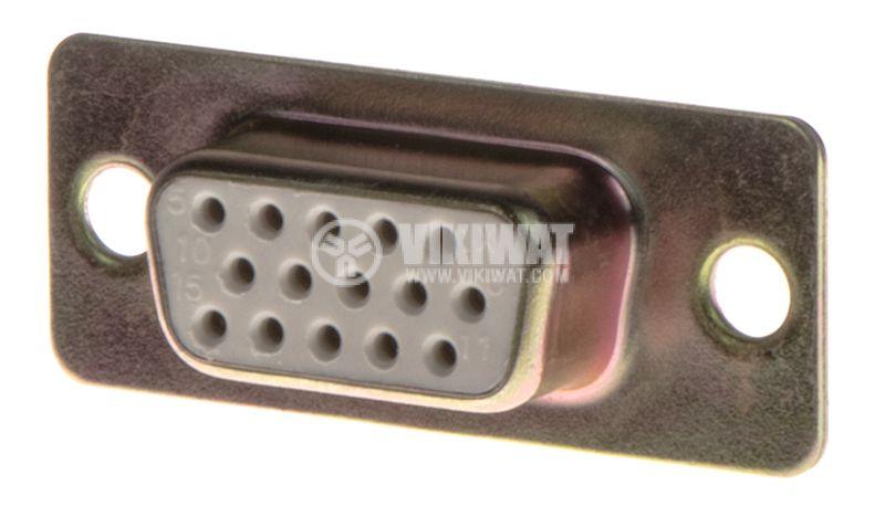 VGA Connector, 15pins, F - 1