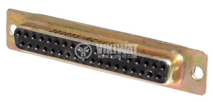 D-Sub конектор гнездо Canon 37 пина женски за панелен монтаж