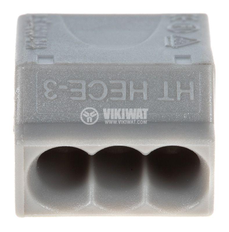 Клема 3-ка, за кабел със сечение от 1 до 2.5 mm2 - 3