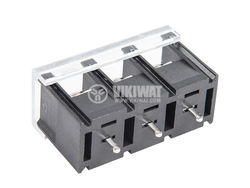 PCB terminal block with insulating barriers, 3 pins, 20A, for printed mounting - 1