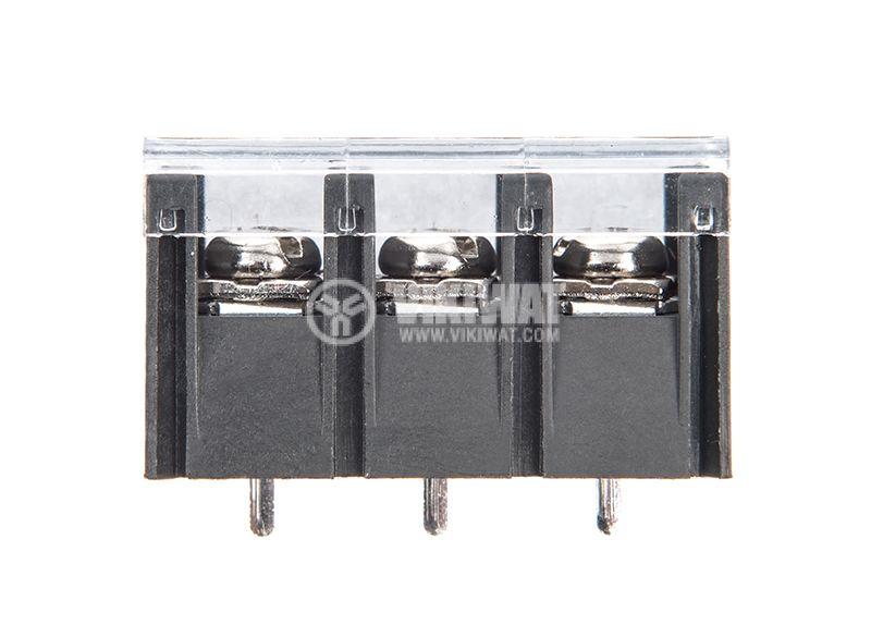 PCB терминален блок с изолационни прегради, 3 пина, 20A, за печатен монтаж - 3