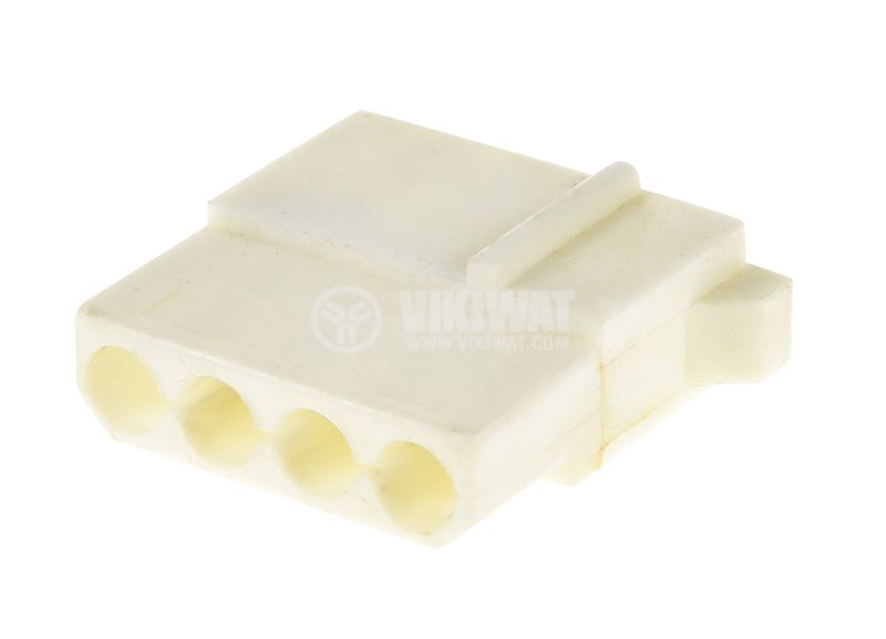 Конектор, MOLEX M, 4 PIN, пластмасов, бял - 2