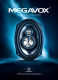 Car Speakers MEGAVOX GX9699-3, 300 W, 160x225 mm