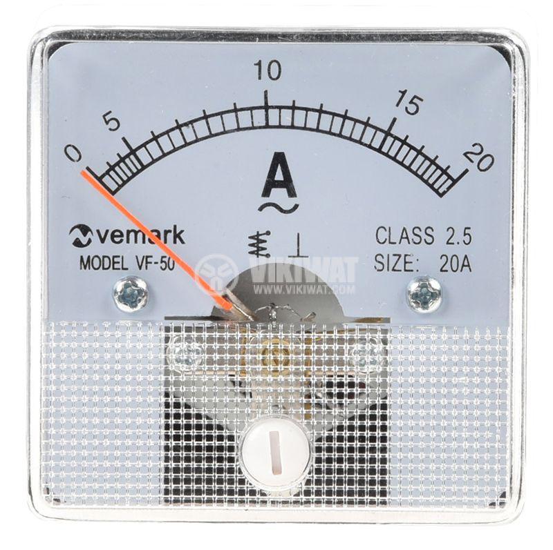 Амперметър, 20 A, AC, VF-50, директен - 2