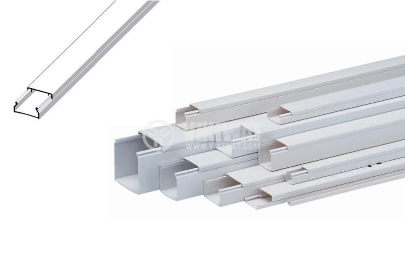 Кабелен канал 24x22x2000 mm, пластмаса LV24x22 (HD)