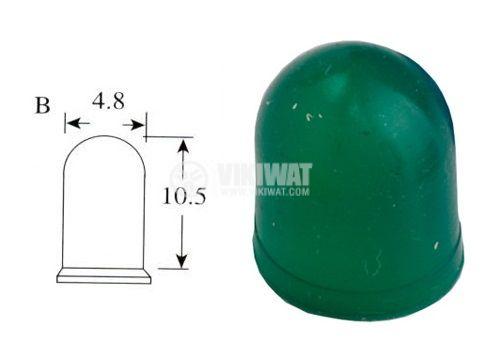 Маншон за лампа скала ф4.8mm х 10.5mm зелен - 2