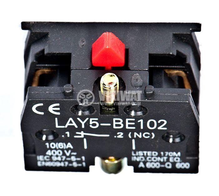 Contact block LAY5-BE102 10A/400VAC SPST-NC - 2