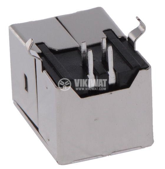 Connector, USB B, TUEB4F2D0B, female, 90 °, THT - 2