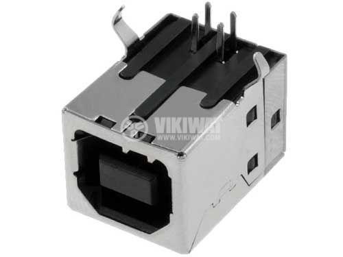 Connector, USB B, TUEB4F2D0B, female, 90 °, THT - 1
