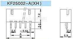 Конектор за печатен монтаж мъжки, VF25002-6A, 6 пина - 2