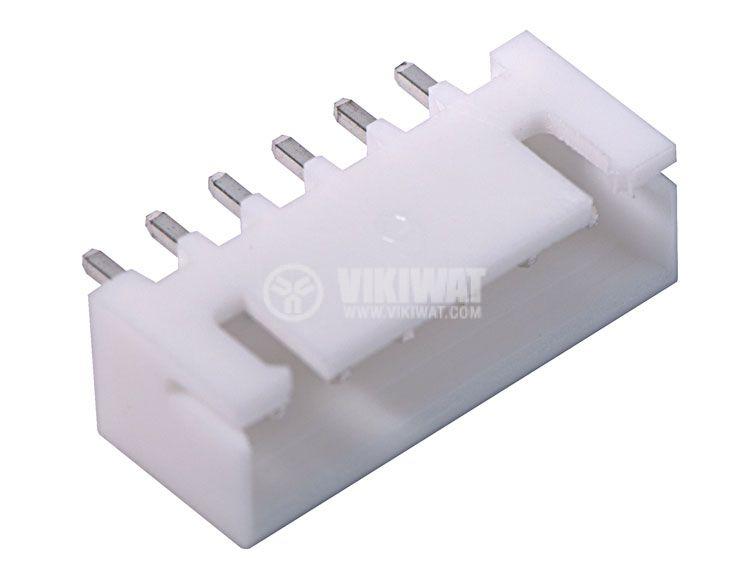 Конектор за печатен монтаж мъжки, VF25002-6A, 6 пина - 3