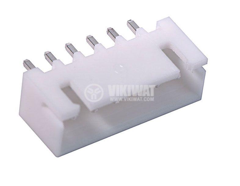 Конектор за печатен монтаж мъжки, VF25002-6A, 6 пина - 1