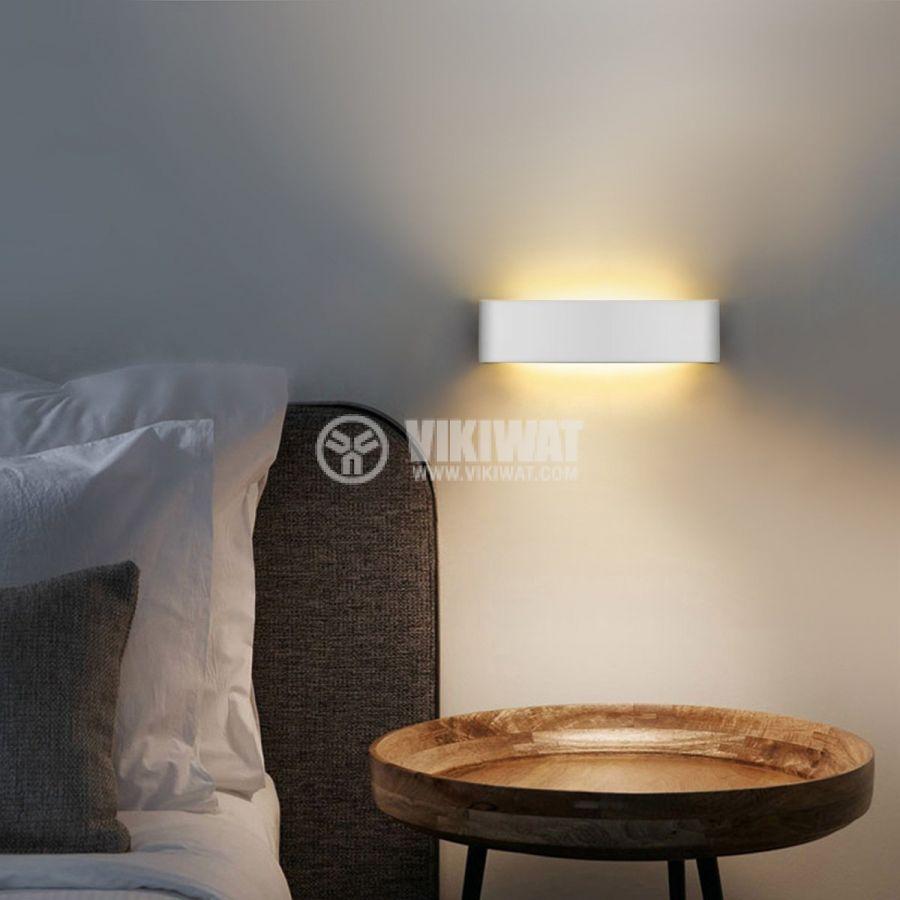 LED аплик AVVA-WL03, 8W, 220VAC, 400lm, 3000K, топло бял, IP20, невлагозащитен, BH07-03200, бял - 4