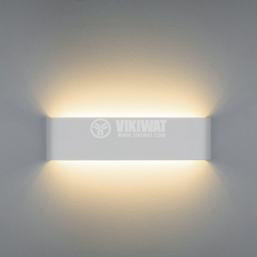LED wall light, AVVA-WL03, 8W, 220VAC, 400lm, 3000K, warm white, IP20, non-waterproof, BH07-03200, white - 5