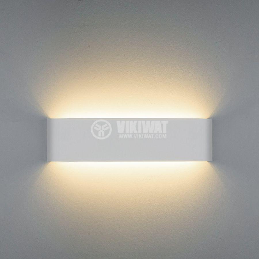 LED аплик AVVA-WL03, 8W, 220VAC, 400lm, 3000K, топло бял, IP20, невлагозащитен, BH07-03200, бял - 5