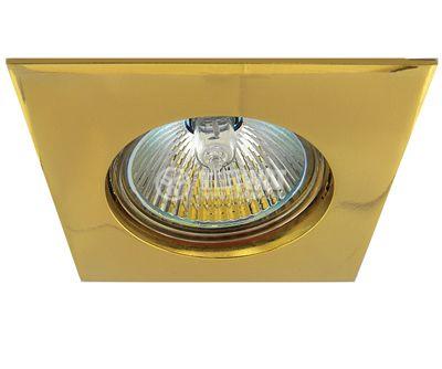 Халогенна арматура за вграждане драскано злато