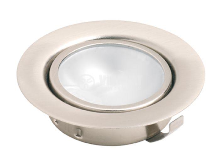 Арматура за вграждане за халогенни и LED луни, хром, G4, мебелна