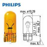 Автомобилна лампа, 12VDC, 5W, WY5W, W2.1x9.5d, оранжева