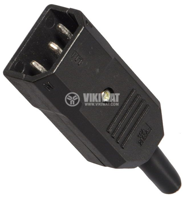 Power supply connector C14, 250V, M, 10A   - 1