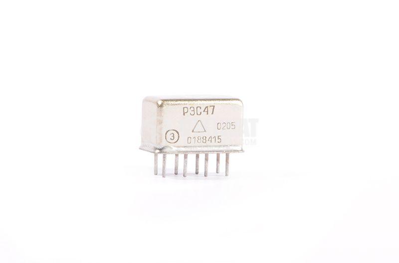 Електромагнитно реле, РЭС47, 24VDC 150VAC/0.3A DPDT 2NO+2NC - 1