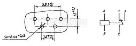 Електромагнитно универсално реле, РЭС49, 5VDC  150VAC/0.1A SPDT - NO+NC - 4