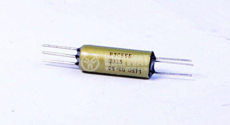 Електромагнитно реле, РЭC55B, 12VDC 100VAC/0.2A SPDT NO+NC
