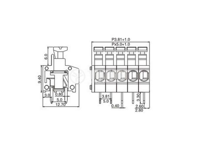 Троен терминален блок KF235-5.0 - 2