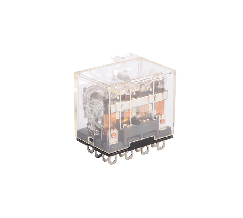 Electromagnetic relay, 10A, 220VAC, 10A, 24VDC, 4NO+4NC, coil 12VDC