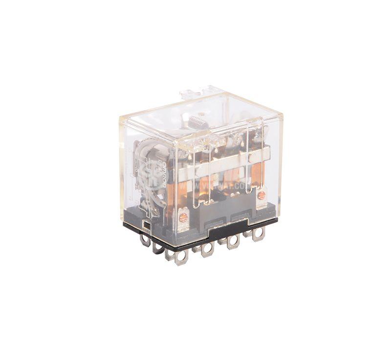 Електромагнитно реле, 10A, 220VAC, 10A, 24VDC, 4NO+4NC, бобина 12VDC - 1