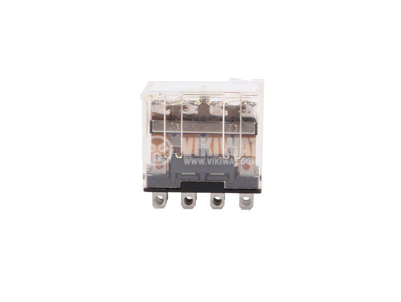 Електромагнитно реле, 10A, 220VAC, 10A, 24VDC, 4NO+4NC, бобина 12VDC - 2