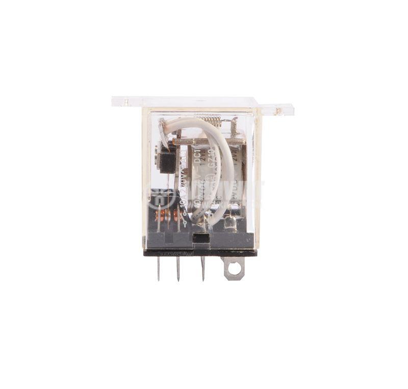 Електромагнитно реле, 10A, 220VAC, 10A, 24VDC, 4NO+4NC, бобина 12VDC - 3